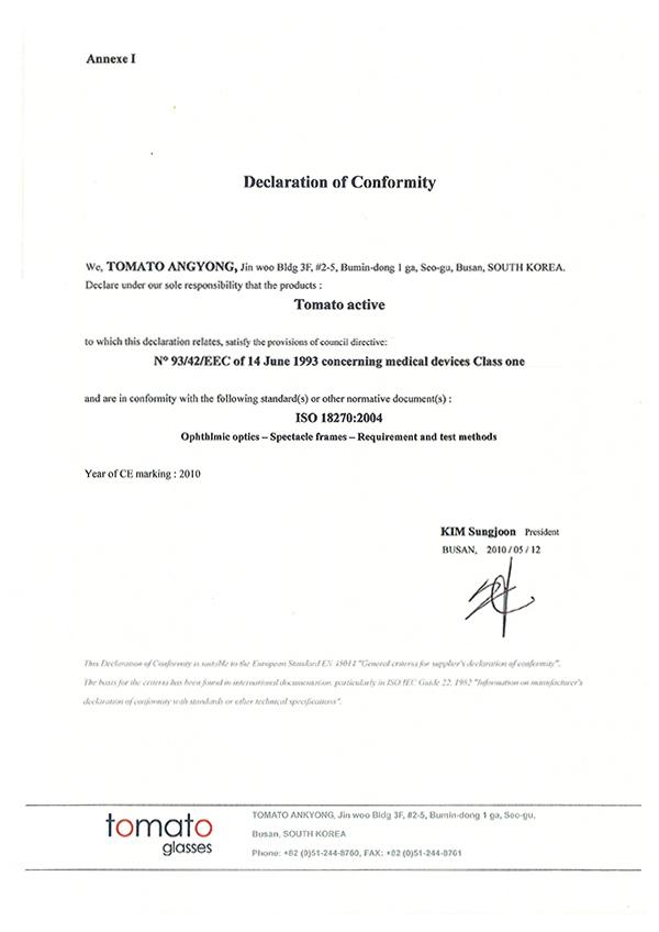 Certificate Europe